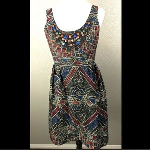 Anna Sui for Anthro Tesserae Beaded Mosaic Dress 8